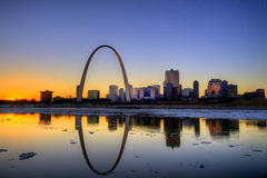 Gateway Arch. The St. Louis, Missouri Gateway Arch and skyline Royalty Free Stock Photography