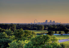 Gateway Arch and St. Louis, Missouri Skyline royalty free stock image