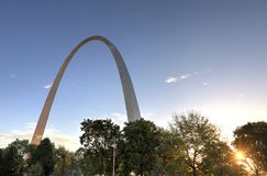 Gateway Arch in St. Louis, Missouri royalty free stock images