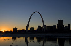 Gateway Arch in St. Louis, Missouri. A view of The Gateway Arch and St. Louis, Missouri Stock Photos