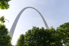 Gateway Arch and Trees Stock Image