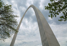Gateway Arch between trees Stock Image