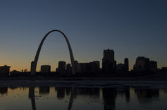 Gateway Arch. A view of The Gateway Arch and St. Louis, Missouri Stock Image