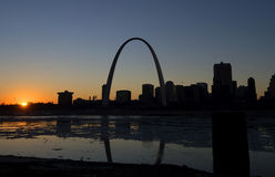 Gateway Arch. A view of The Gateway Arch and St. Louis, Missouri Royalty Free Stock Photo