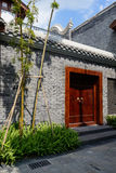 Gateway of archaised Chinese building on sunny day Royalty Free Stock Photo