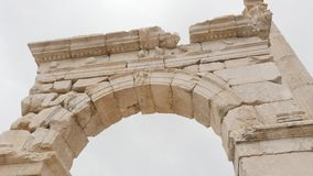 Gateway arches in archaeological site of Sagalassos in Turkey,. View of gateway arches in the archaeological site of Sagalassos, best-preserved ancient city stock video