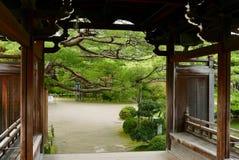 Gateway au jardin japonais Photographie stock libre de droits
