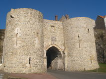 Gateway Boulogne city ramparts Royalty Free Stock Photos