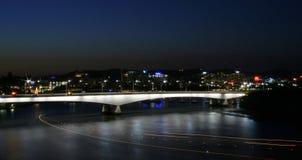 Gateway Bridge. The Gateway Bridge at night in Brisbane City, Australia Stock Images