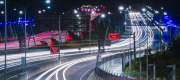 Gateway Bridge Motorway in Brisbane. Gateway Bridge Sir Leo Hielscher Bridges in Brisbane, Queensland, Australia Royalty Free Stock Photos