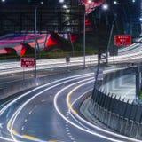 Gateway Bridge Motorway in Brisbane. Gateway Bridge Sir Leo Hielscher Bridges in Brisbane, Queensland, Australia Royalty Free Stock Photo