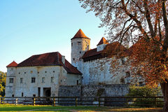 Gateway building of Burghausen main castle at fall Royalty Free Stock Image