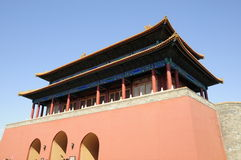 Gateway building in forbidden city Royalty Free Stock Images
