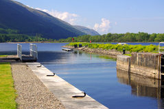 Gateway Caledonian Canal in Scotland Stock Photos
