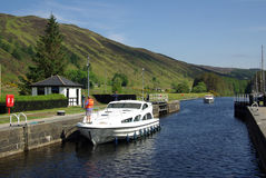 Gateway Caledonian Canal in Scotland Royalty Free Stock Photography