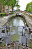 Gateway of the canal de la Robine in Narbonne Stock Photo