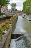Gateway of the canal de la Robine in Narbonne Stock Images