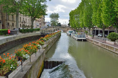 Gateway of the canal de la Robine in Narbonne Stock Image