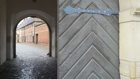 Gateway at castle. Wonder old gateway at Frederiksborg castle Denmark Stock Photos