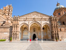 Gateway in Cathedral in Palermo Royalty Free Stock Image