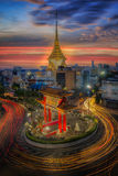 Gateway china-town golden Buddha temple Stock Images