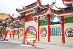 Gateway chino del templo Imagen de archivo
