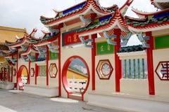Gateway chino del templo Imagen de archivo libre de regalías