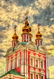 Gateway Church of Transfiguration in Novodevichy Convent - Mosco Royalty Free Stock Image