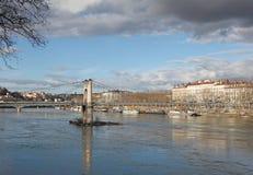 Gateway College bridge in Lyon, France Stock Image