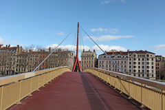 Gateway Courthouse bridge (Passerelle du Palais de Justice) in Lyon, France Royalty Free Stock Photography
