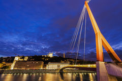 Gateway Courthouse footbridge in Lyon Royalty Free Stock Images