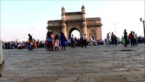 Gateway de la India, Mumbai almacen de metraje de vídeo