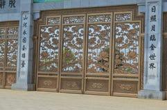 Vietnam - North - Bai Dinh Pagoda gateway detail. Gateway detail at Bái Đính Temple Vietnamese: Chùa Bái Đính or Bái Đính Temple Spiritual and Cultural Royalty Free Stock Image