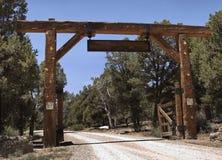 Gateway do rancho fotografia de stock