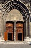 Gateway e portico della cattedrale di Chambery Immagine Stock