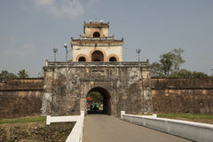 Gateway in the Forbidden Purple City in Hue, Vietnam. Stock Image