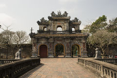 Gateway in the Forbidden Purple City in Hue, Vietnam. Stone gateway in the Forbidden Purple City in Hue, Vietnam stock image