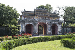 Gateway in the Forbidden Purple City in Hue, Vietnam. Stock Photography