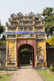 Gateway in the Forbidden Purple City in Hue, Vietnam. Stone gateway in the Forbidden Purple City in Hue, Vietnam royalty free stock photos