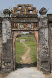 Gateway in the Forbidden Purple City in Hue, Vietnam. Royalty Free Stock Photos