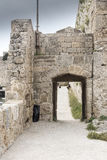 Gateway in the fortifications of the old town Rhodes Royalty Free Stock Photography