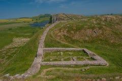 Gateway on Hadrians Wall. A roman gateway on Hadrians Wall on the Scottish-English border Stock Images