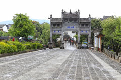 The gateway in heshun town,yunnan,china Stock Image