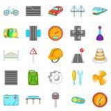Gateway icons set, cartoon style Royalty Free Stock Photo