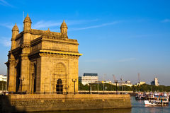 Gateway of India. At sunset in Mumbai Royalty Free Stock Photo