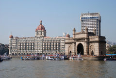Gateway of India. The Gateway of India monument in Mumbai (India royalty free stock image