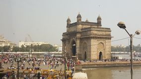 Promonade of Gateway of India, Mumbai. The Gateway of India is an arch monument built during the 20th century in Bombay, India. The monument was erected to Royalty Free Stock Photos