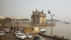 Promenade of Gateway of India, Mumbai. The Gateway of India is an arch monument built during the 20th century in Bombay, India. The monument was erected to Royalty Free Stock Photography