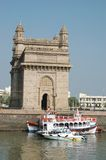 Gateway of India,Bombay (Mumbai). The Gateway of India s a monument in Mumbai ( Bombay), India. Located on the waterfront in Apollo Bunder area in South Mumbai Royalty Free Stock Images