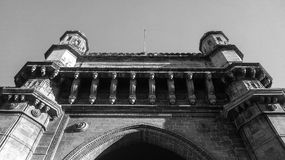 The Gateway of India. This is the famous historic construction in Mumbai,India which was constructed by British Government Royalty Free Stock Photos